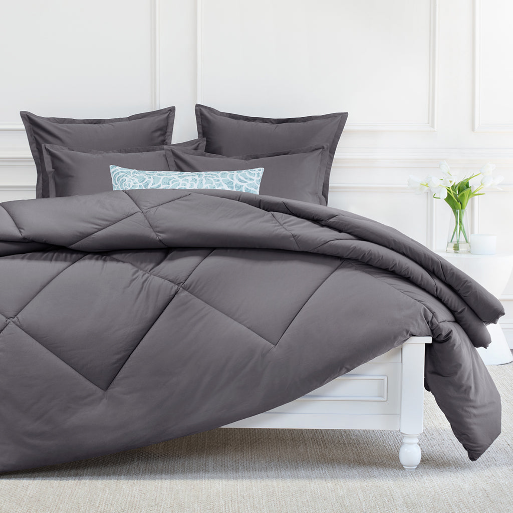 Bedroom inspiration and bedding decor | Charcoal Grey Comforter Duvet Cover | Crane and Canopy