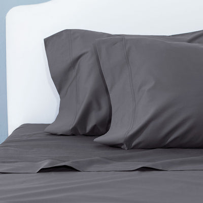 Charcoal Grey 400 Thread Count Sheet Set (Fitted, Flat, & Pillow Cases)
