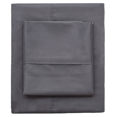 Charcoal Grey 400 Thread Count Flat Sheet