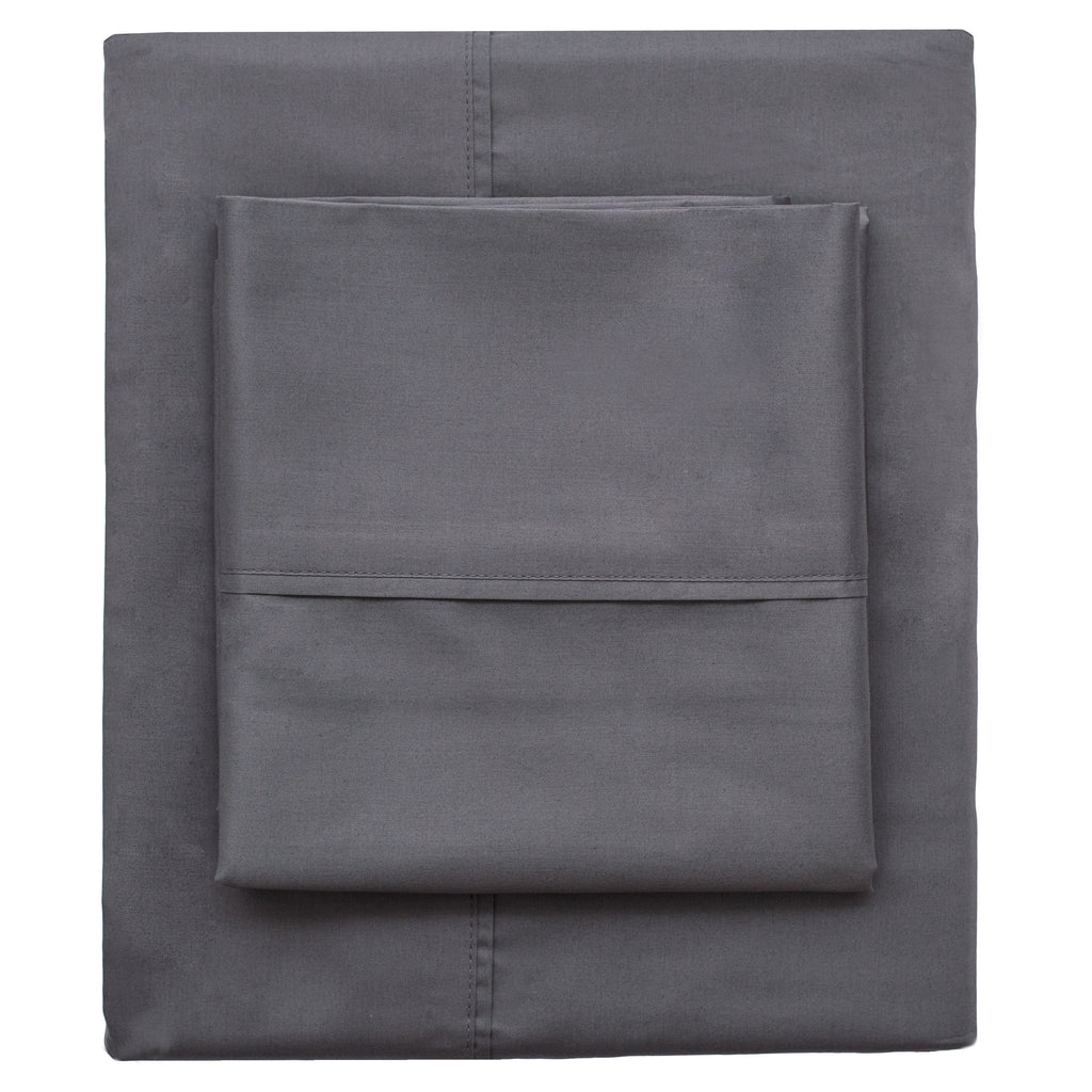 Bedroom inspiration and bedding decor | Charcoal Grey 400 Thread Count Pillow Case Duvet Cover | Crane and Canopy