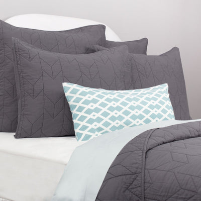 Bedroom inspiration and bedding decor | The Chevron Charcoal Grey Quilt & Sham Duvet Cover | Crane and Canopy