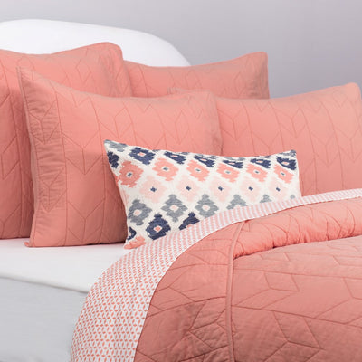 Bedroom inspiration and bedding decor | The Coral Flowers Throw Pillows | Crane and Canopy