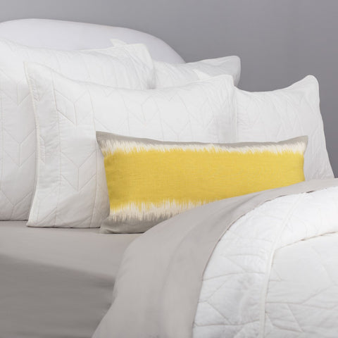 The Chevron Soft White Quilt & Sham