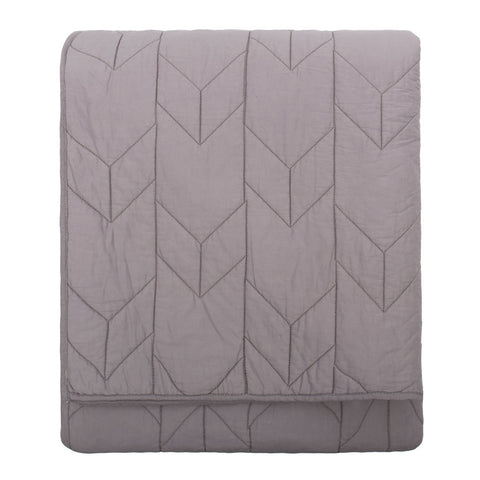 Bedroom inspiration and bedding decor | The Chevron Light Grey Quilt & Sham Duvet Cover | Crane and Canopy