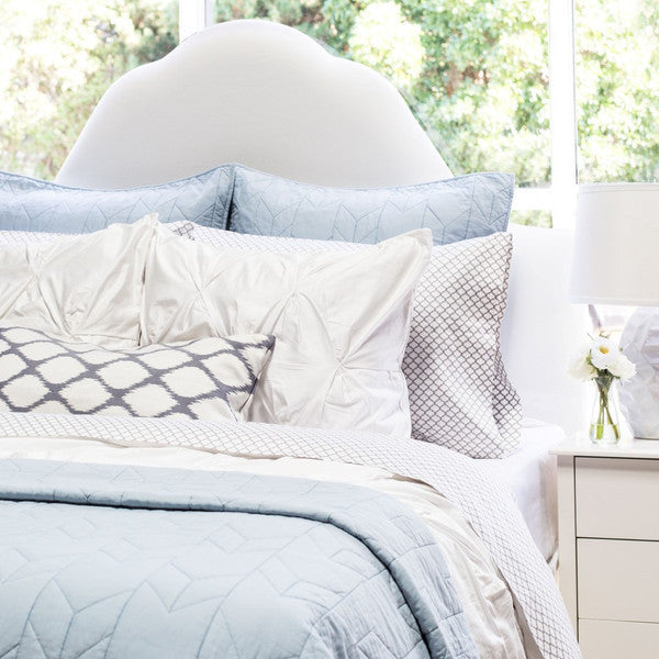 Bedroom inspiration and bedding decor | Light Blue Chevron Quilt Sham Duvet Cover | Crane and Canopy