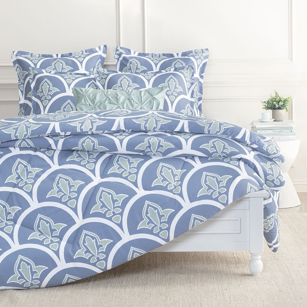 Bedroom inspiration and bedding decor | Clementina Blue Comforter Duvet Cover | Crane and Canopy