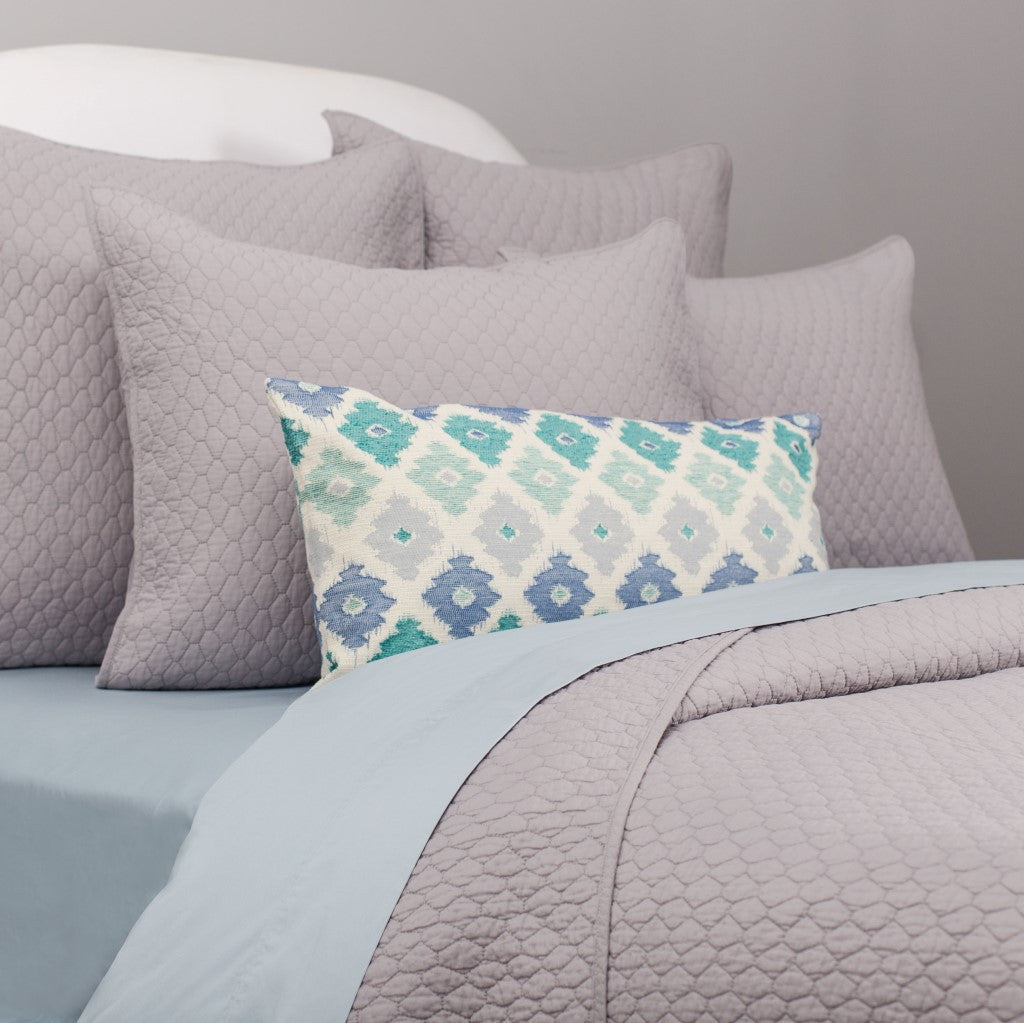 Bedroom inspiration and bedding decor | Light Grey Cloud Quilt Euro Sham Duvet Cover | Crane and Canopy