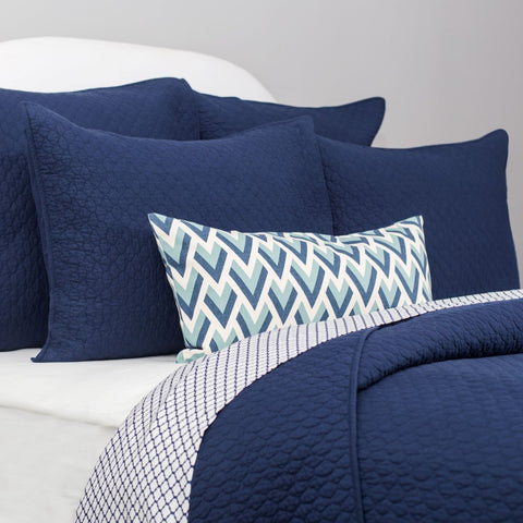 Bedroom inspiration and bedding decor | The Blue Peacock Throw Pillows | Crane and Canopy