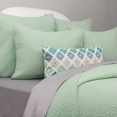 Bedroom inspiration and bedding decor | The Teal Flowers Throw Pillows | Crane and Canopy