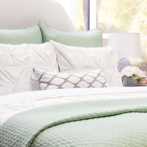 Bedroom inspiration and bedding decor | The Cloud Seafoam Green Quilt & Sham Duvet Cover | Crane and Canopy
