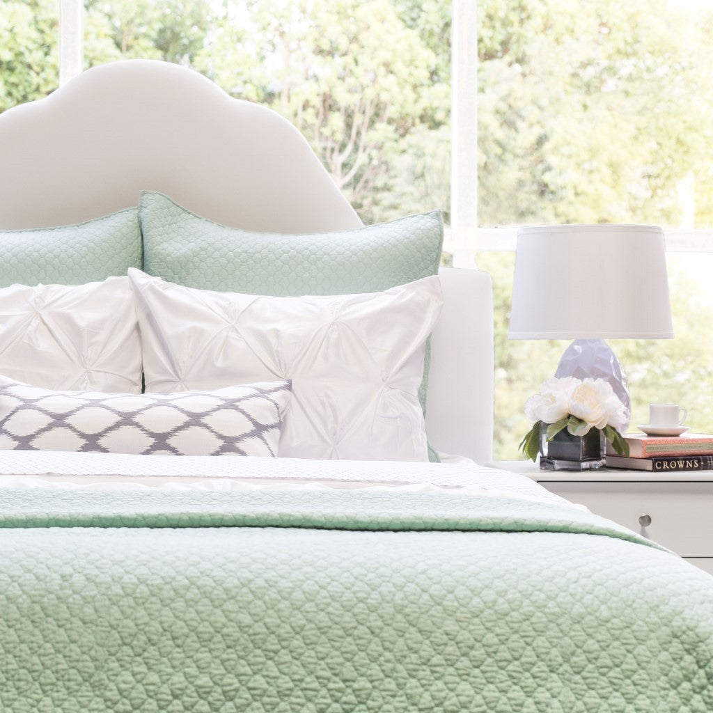 Bedroom Inspiration And Bedding Decor | The Cloud Seafoam Green Quilt U0026  Sham | Crane And