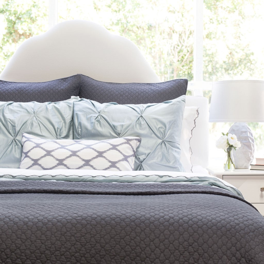 Bedroom inspiration and bedding decor | The Cloud Charcoal Grey Quilt & Sham Duvet Cover | Crane and Canopy
