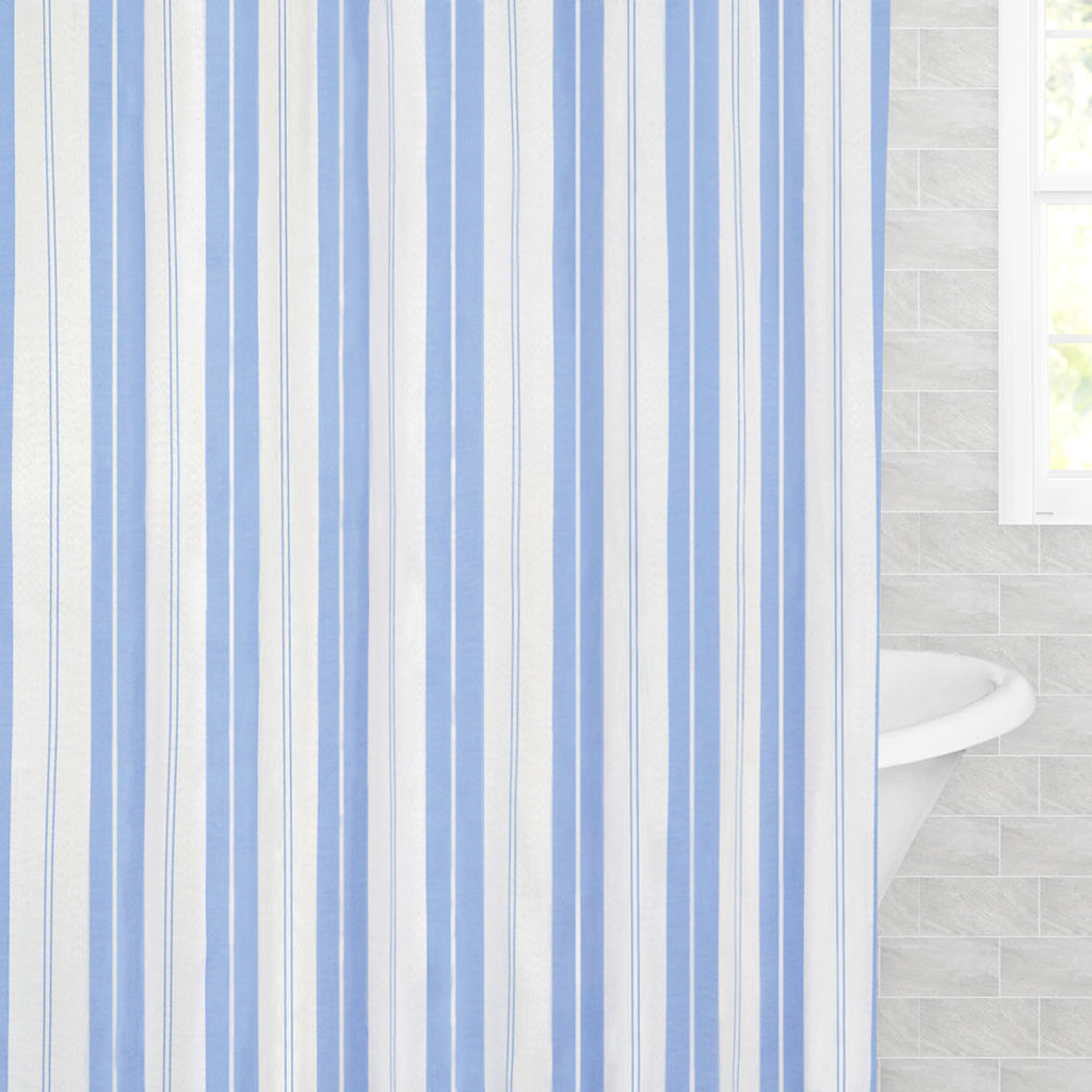 Bedroom inspiration and bedding decor | The Coastal Striped Shower Curtain Duvet Cover | Crane and Canopy