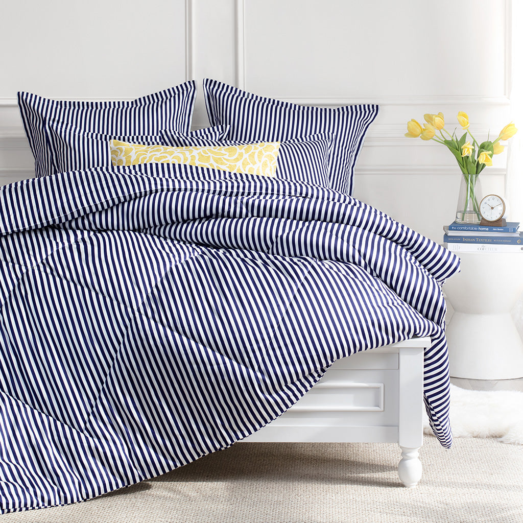 Navy Striped Comforter The Larkin Navy Blue Comforter Crane Canopy