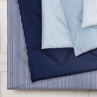 Bedroom inspiration and bedding decor | The Larkin Navy Blue Comforter Duvet Cover | Crane and Canopy
