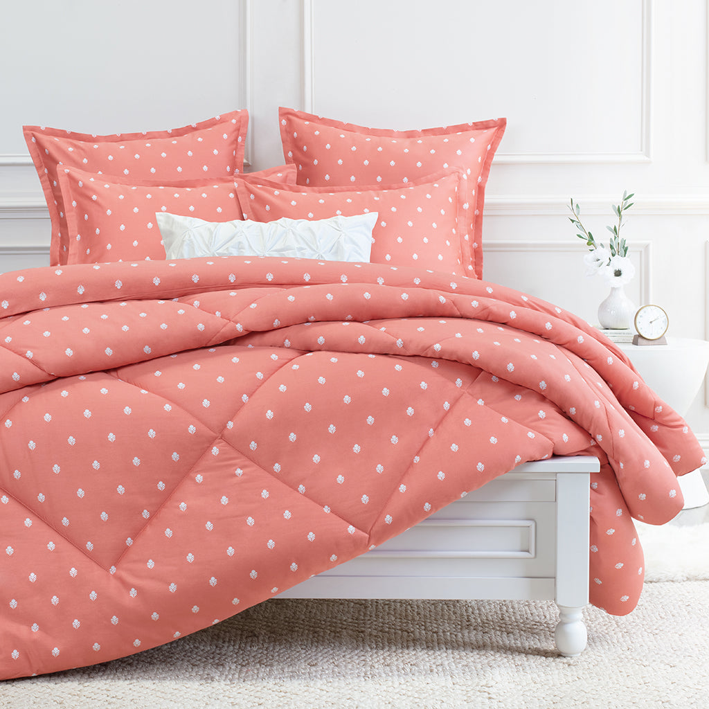 Bedroom inspiration and bedding decor | The Flora Coral Comforter Duvet Cover | Crane and Canopy