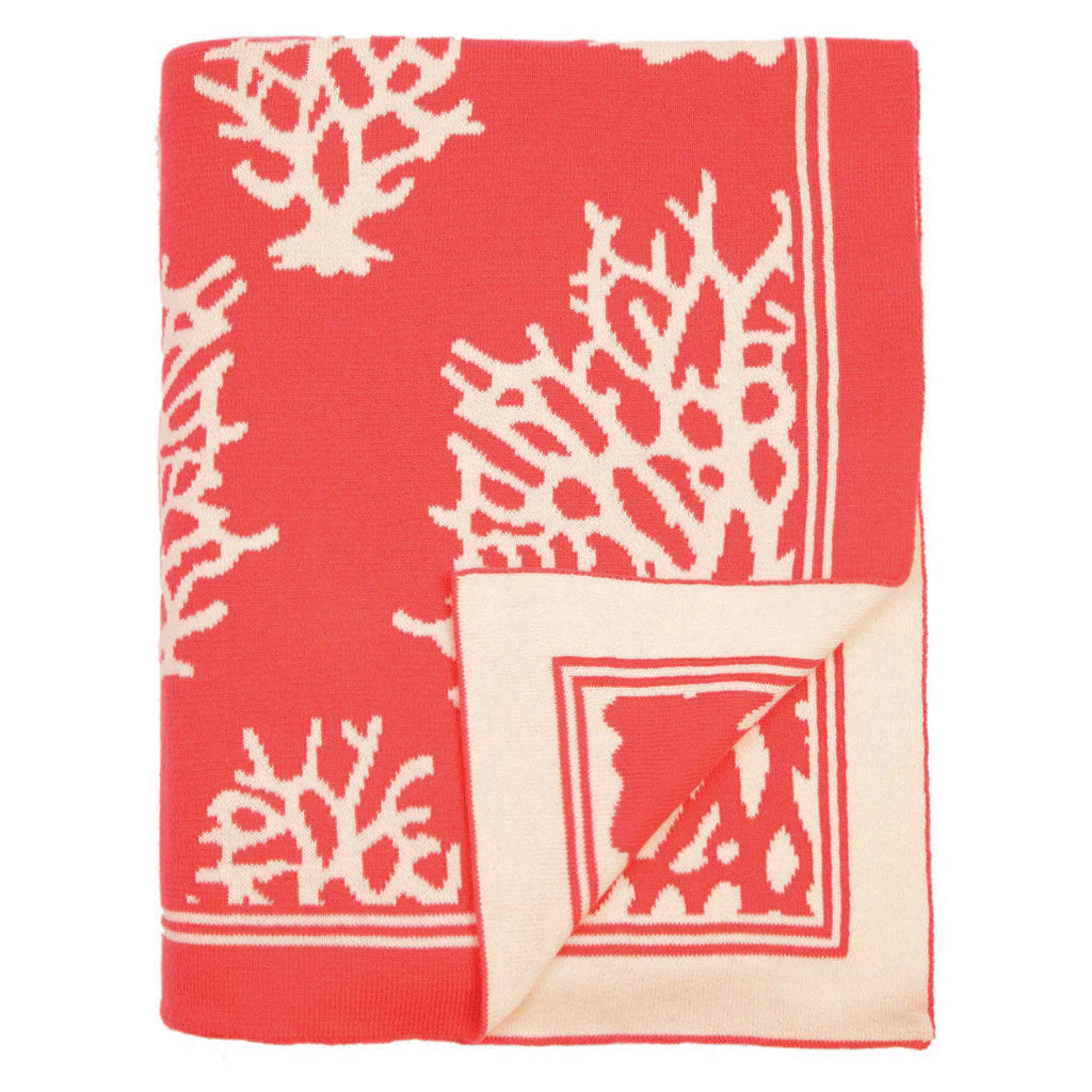 Bedroom inspiration and bedding decor | The Coral Reef Reversible Patterned Throw | Crane and Canopy