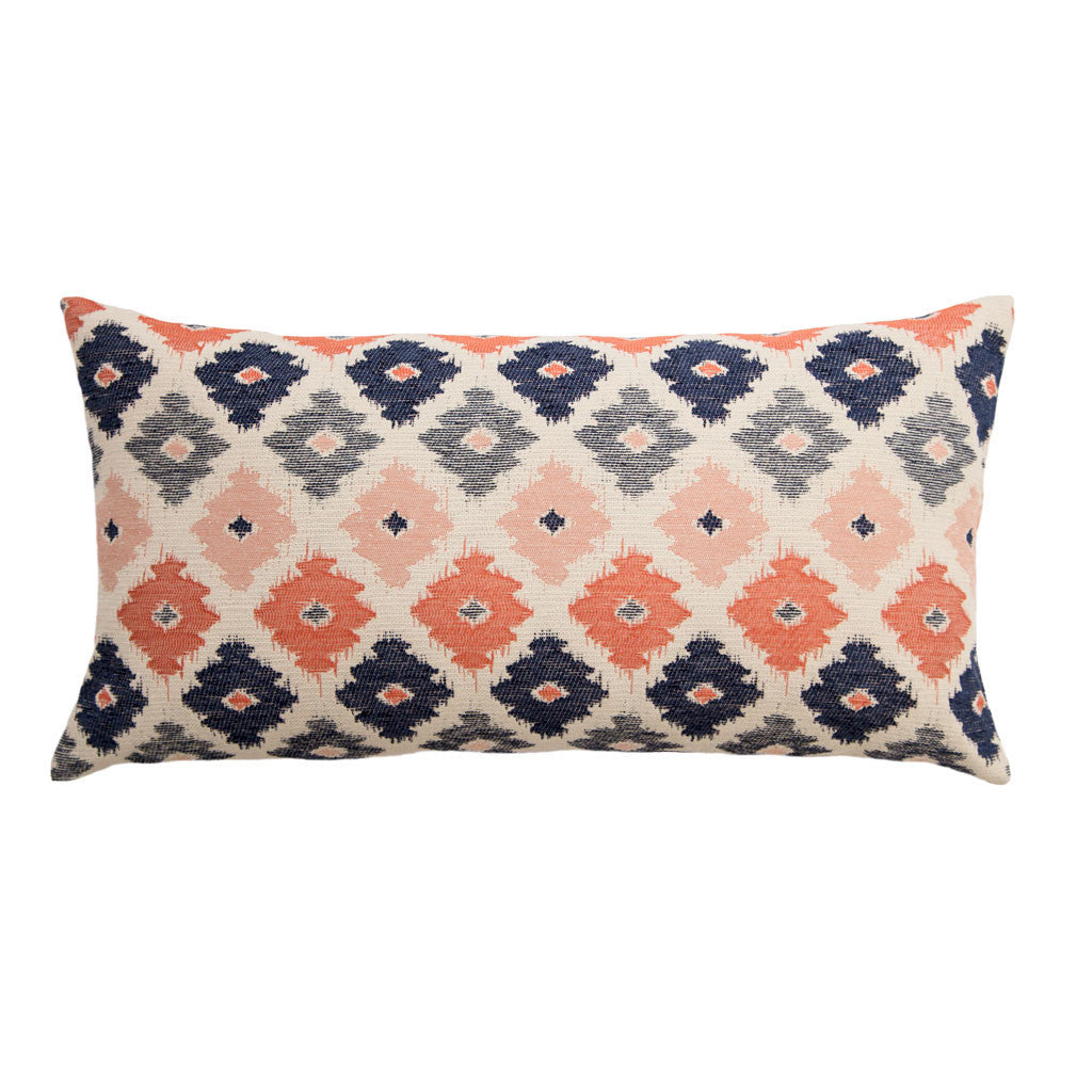 the coral flowers throw pillow