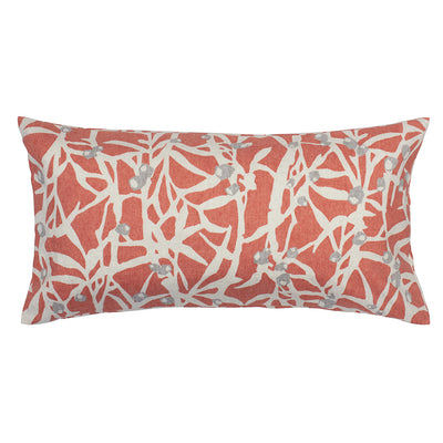 Coral Berries Throw Pillow