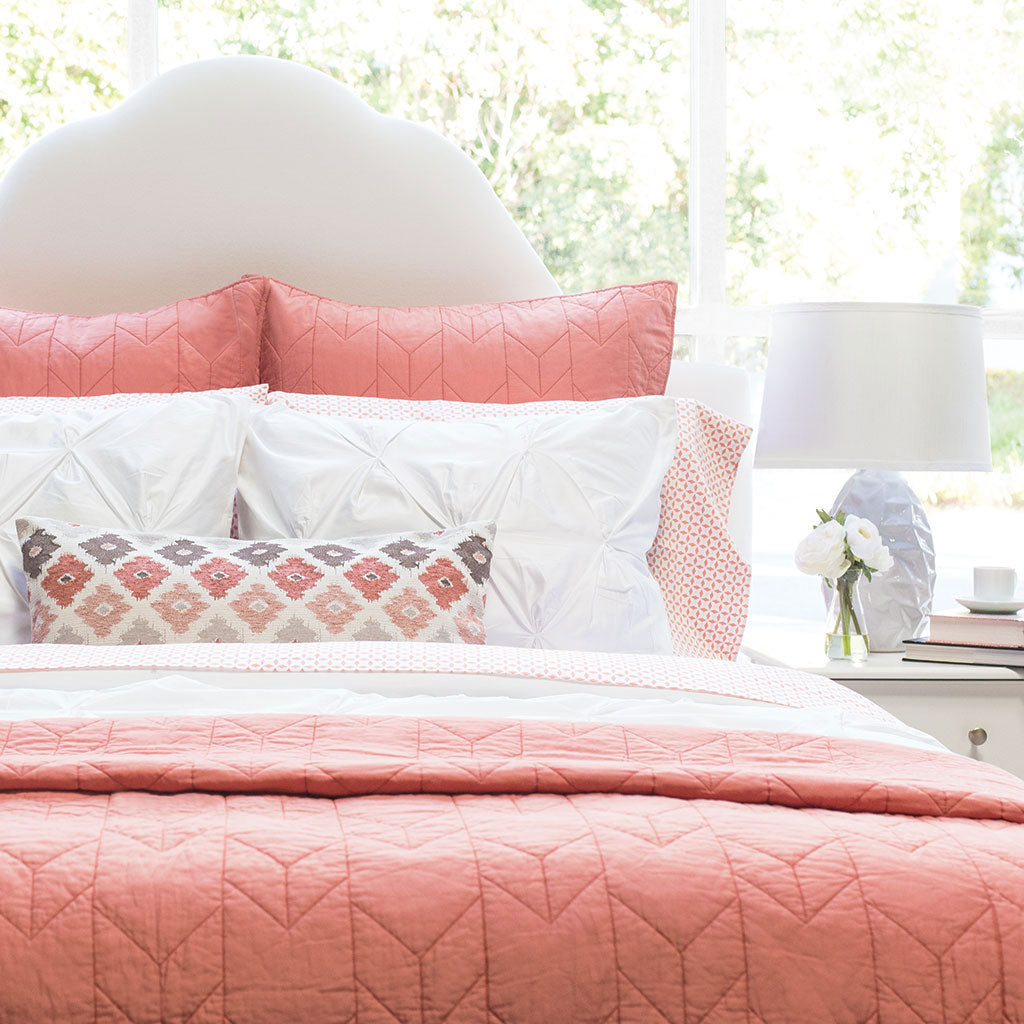 Coral Chevron Bed Sheets