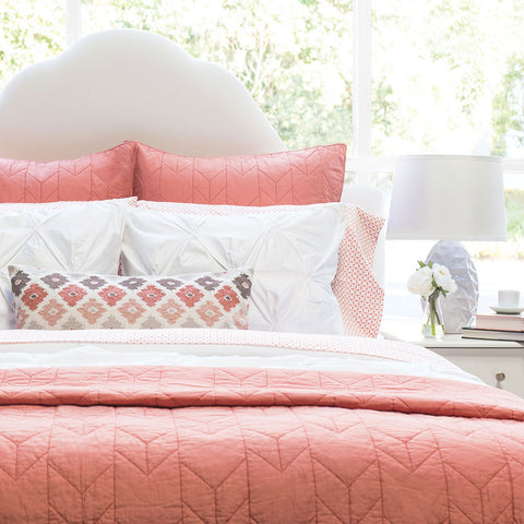 Bedroom inspiration and bedding decor | The Chevron Coral Quilt & Sham | Crane and Canopy