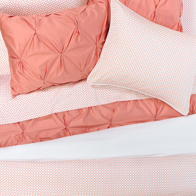 Bedroom inspiration and bedding decor | Coral Morning Glory Flat Sheets | Crane and Canopy