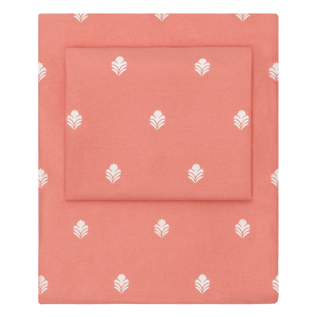 Bedroom inspiration and bedding decor | Coral Flora Sheet Set 2 (Fitted & Pillow Cases)s | Crane and Canopy