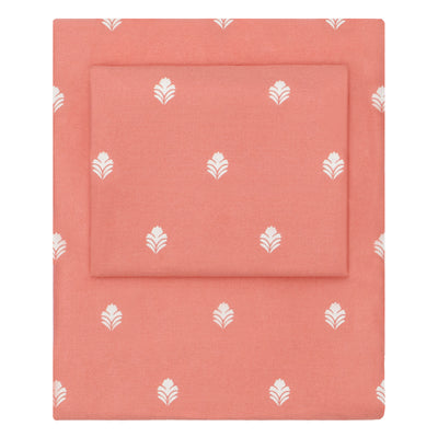 Coral Flora Sheet Set  (Fitted, Flat, & Pillow Cases)