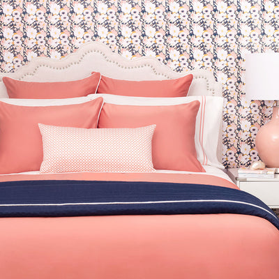 Bedroom inspiration and bedding decor | The Hayes Nova Coral Duvet Cover | Crane and Canopy