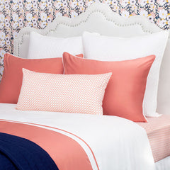Bedroom inspiration and bedding decor | The Hayes Nova Coral | Crane and Canopy