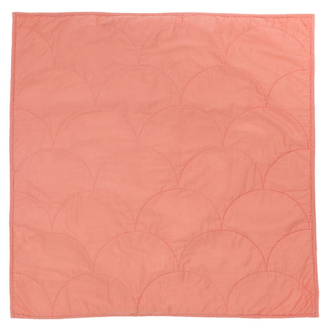 Coral Scalloped Quilt Euro Sham