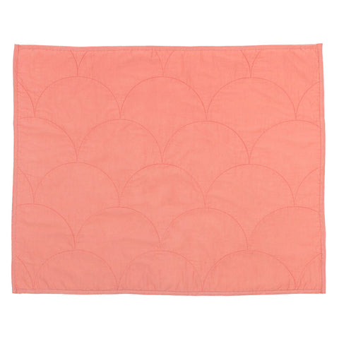 Coral Scalloped Quilt Sham