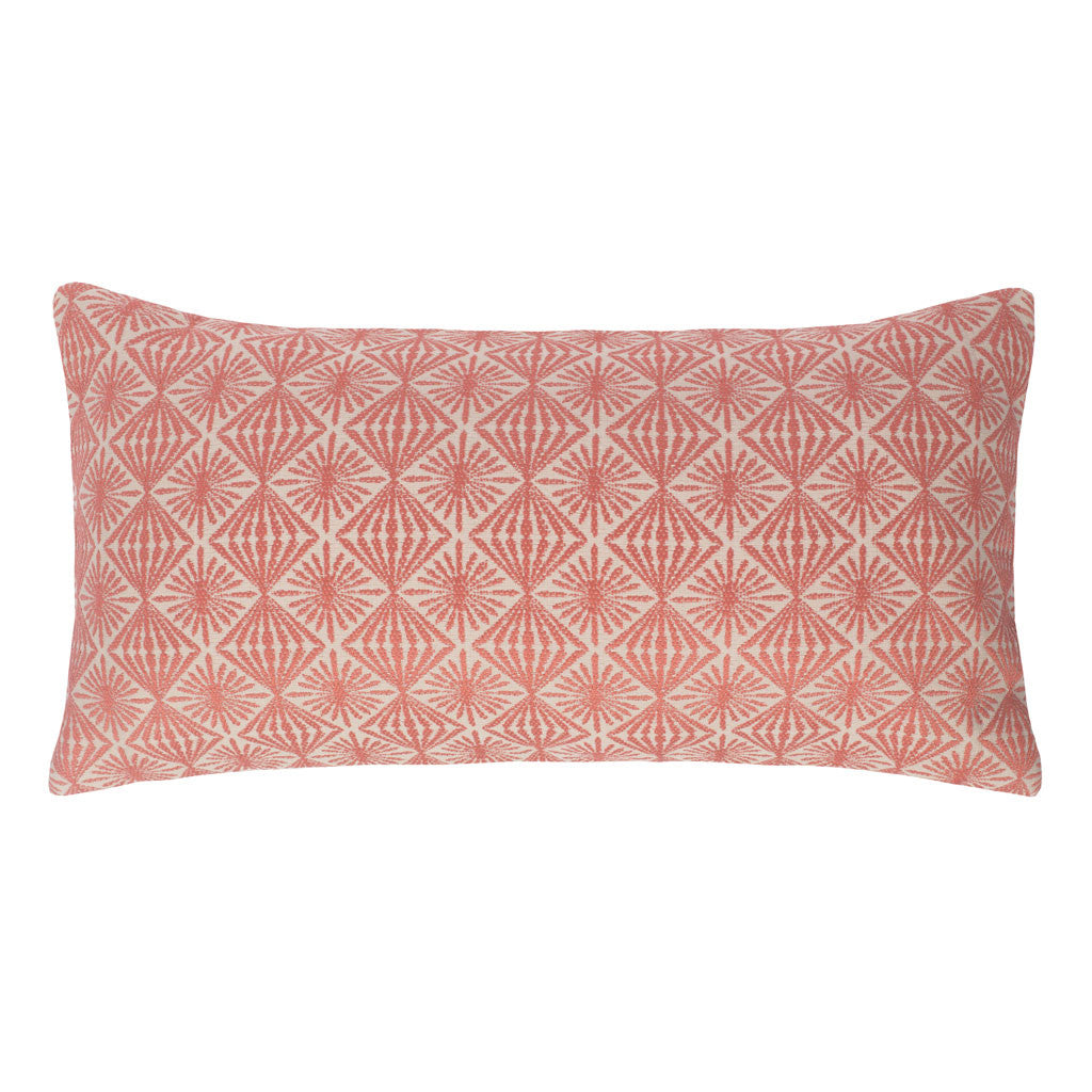 Bedroom inspiration and bedding decor | The Coral and Ivory Diamond Starburst Throw Pillows | Crane and Canopy