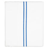 Navy Blue Lines Embroidered Flat Sheet