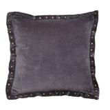 Dark Grey Studded Pillow