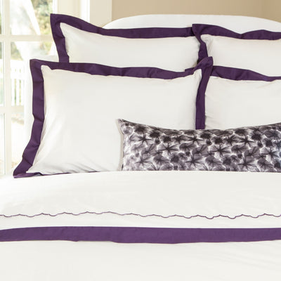 Bedroom inspiration and bedding decor | The Dark Purple Starburst Throw Pillows | Crane and Canopy
