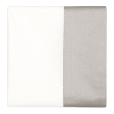 Dove Grey Border Pillow Case