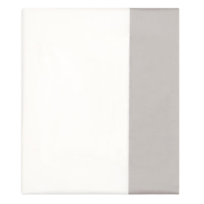Dove Grey Border Flat Sheet