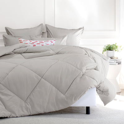 Bedroom inspiration and bedding decor | The Dove Grey Comforter Duvet Cover | Crane and Canopy