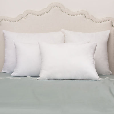 Bedroom inspiration and bedding decor | The Down Alternative Euro Sham Pillows | Crane and Canopy