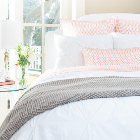 Bedroom inspiration and bedding decor | The Coral Morning Glory Sheet Sets | Crane and Canopy