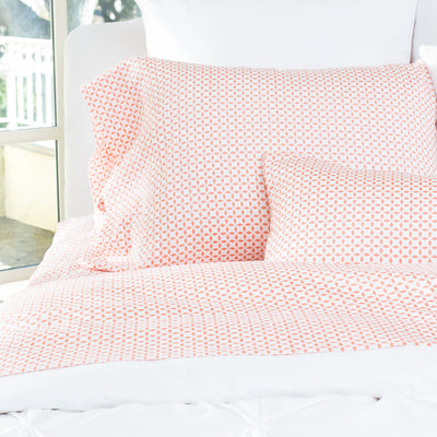 Coral Morning Glory Sheet Set 2 (Fitted & Pillow Cases)