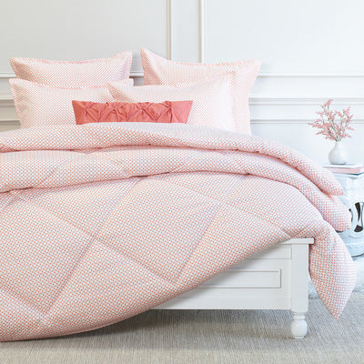 Bedroom inspiration and bedding decor | Ellis Coral Euro Flange Sham Duvet Cover | Crane and Canopy