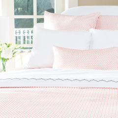 Bedroom inspiration and bedding decor | The Ellis Coral | Crane and Canopy