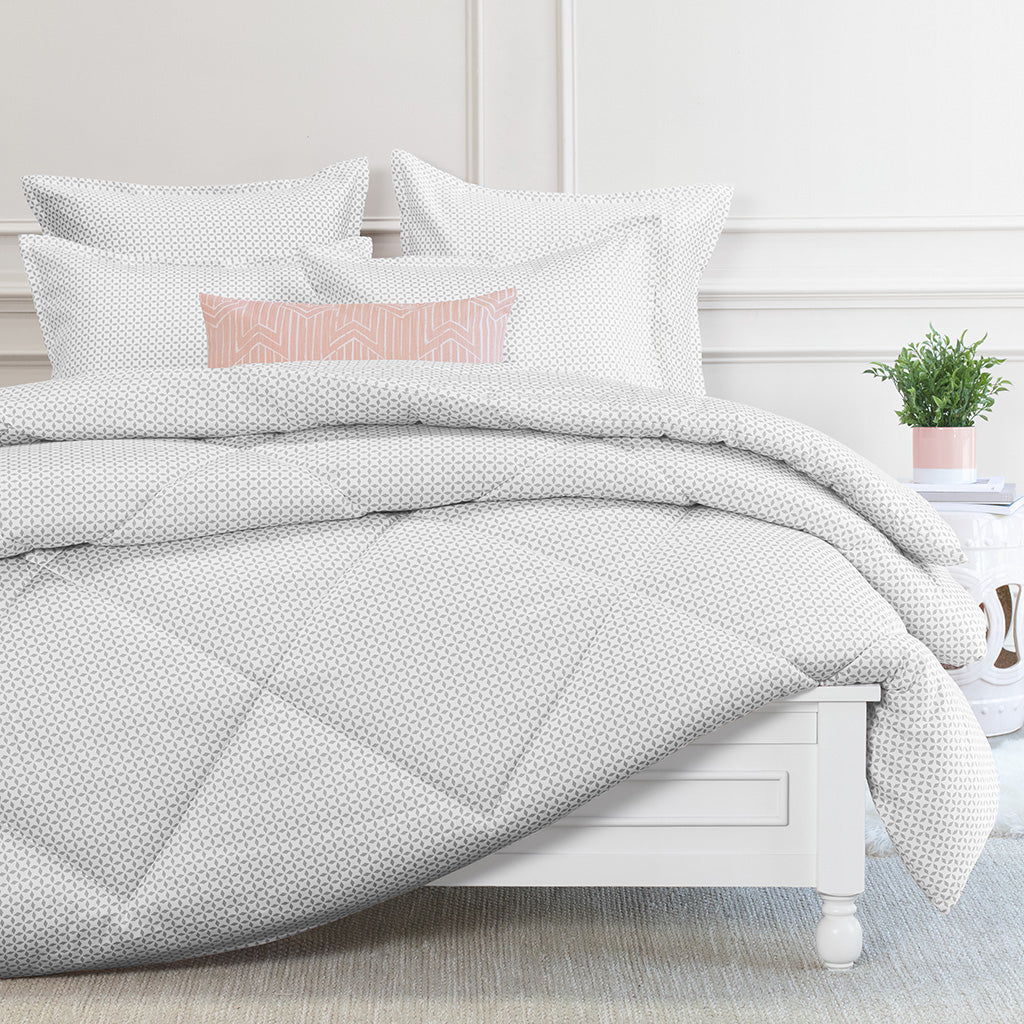 Bedroom inspiration and bedding decor | Ellis Grey Comforter Duvet Cover | Crane and Canopy