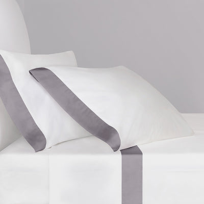 English Grey Border Sheet Set (Fitted, Flat, & Pillow Cases)