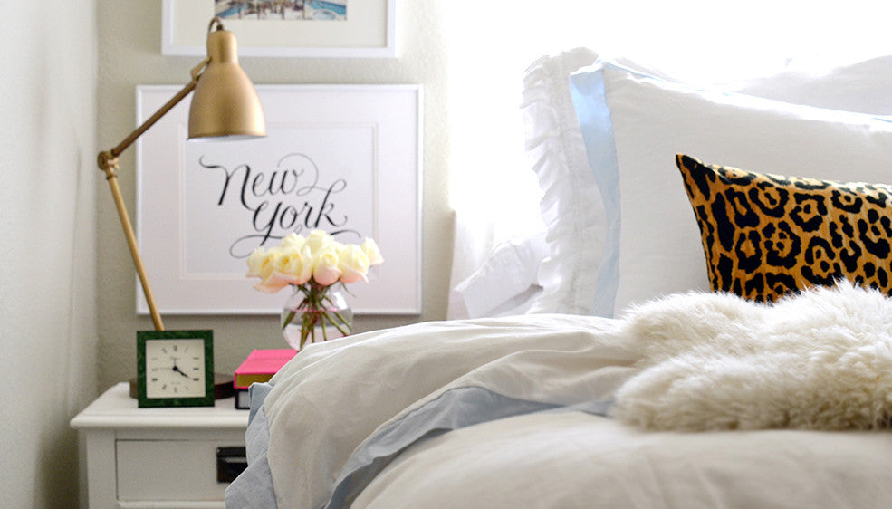 Crane and Canopy Designer Bedding as seen in Kelly Christine Studio