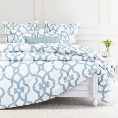 Bedroom inspiration and bedding decor | The Florentine Blue Comforter Duvet Cover | Crane and Canopy