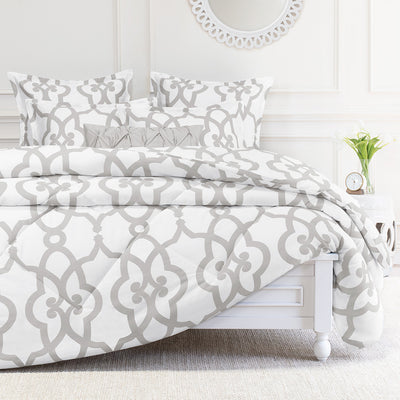 Bedroom inspiration and bedding decor | The Florentine Grey Comforter Duvet Cover | Crane and Canopy