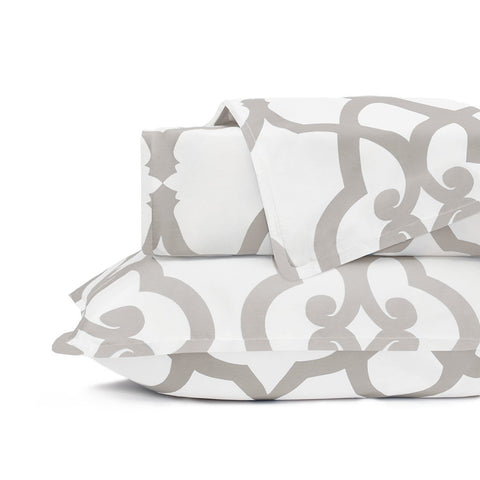 Dove Grey Florentine Duvet Cover